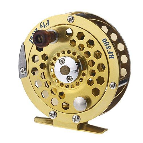 Iycorish Metal Lleno Pescados de la Mosca Carrete Anterior Hielo Pesca Embarcaciones Rueda BF800A 0.5mm/300m 1:1