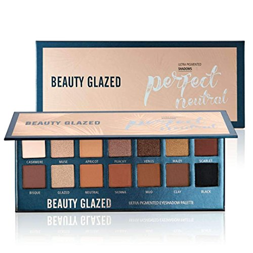 Beauty Glazed 14 Farben Schimmert und Matt Lidschatten Palette Makeup Palette Lang Anhaltende und...