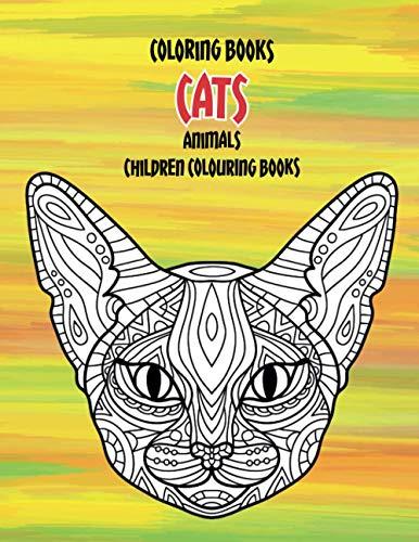Coloring Books Animals - Children Colouring Books - Cats