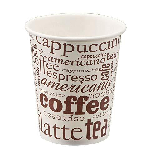 TELEVASO - 1000 uds - Vaso de cartón para café Vending - Capacidad de 237 ml (8 oz) - Compatible con (Tapa Plana PS Blanca con Cruz 80 mm) no Incluidas