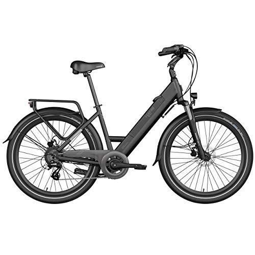 LEGEND EBIKES Milano 36v10.4ah Bicicleta Eléctrica Plegable, Unisex Adulto, Negro Onyx, Talla Única