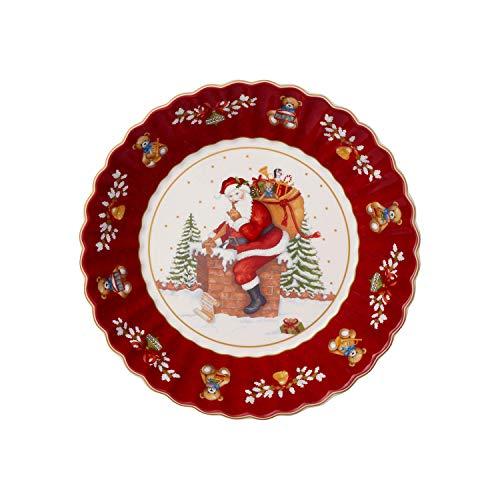 Villeroy & Boch - Toys Fantasy grande coupe, Père Noël sur le toit, coupe décorée en porcelaine premium, rouge, multicolore