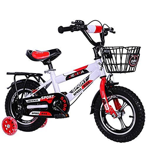 Kinderfiets 12 Inch, 14 Inch, 16 Inch, 18 Inch Hoog Koolstofstaal Frame Slijtvast Lichtgevende Hulpwiel, Mountain Special Wheel