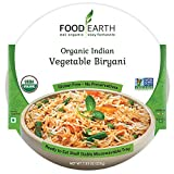 Food Earth Organic Indian Vegetable Biryani - Ready to Eat Meals - Indian Food - Organic Microwaveable Meals - Pre Prepared Meals - (6 PACK)