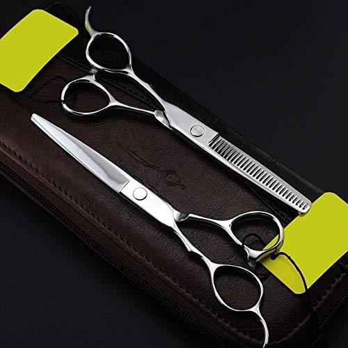 Tijeras profesionales de peluquería, Tijeras para el cabello para zurdos - Tijeras para peluqueros - Tijeras para cortar el cabello Cómo tijeras para cortar el cabello y recortar la barba en el hogar