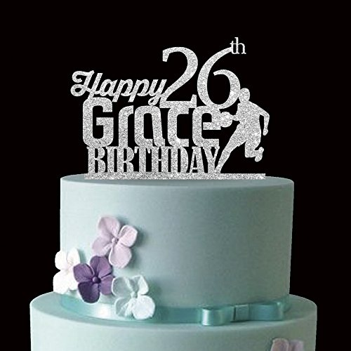 Kiskistonite - Juego de 26 figuras de baloncesto para decorar tartas de cumpleaños, personalizables, para decoración de tartas, fiestas, tartas, etc.