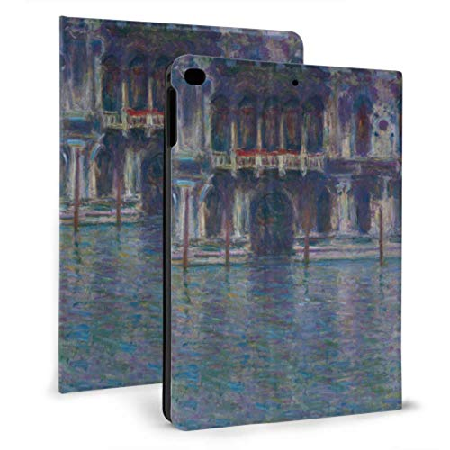 Cubiertas para iPad para Mujeres Monet Water City Building Venice Palazzo Da Mula Funda para iPad a Prueba de niños para iPad Mini 4 / Mini 5/2018 6th / 2017 5th / Air/Air 2 con Auto Wake/Sleep
