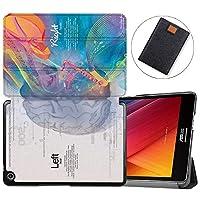 MAITTAO Slim Folio For Verizon ASUS ZenPad Z8S Case ZT582KL 2017 Release, Magentic Smart Stand Cover with Wake/Sleep for Verizon ASUS ZenPad Z8S 7.9-Inch Tablet Sleeve Bag 2 in 1, Flowers & Leafs 6
