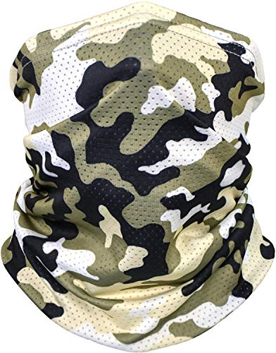 Cooling Neck Gaiter Face Mask,Dust Face Cover, Breathable/Reusable Bandana for Men and Women
