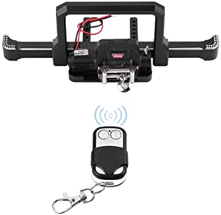 fosa RC Car Front Bumper with Winch, Aluminum Alloy Front Bumper with Winch and Wireless Remote Controller for Traxxas TRX...