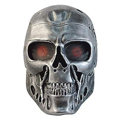 HOOXL Terminator Terminator T800 Robot Horror Skull Halloween Cs Field Mask Mask Gold Silver