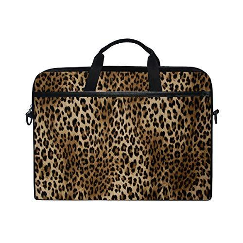 WXLIFE Vintage Animal Leopard Print 13 13.3 14 Inch Laptop Shoulder Messenger Bag Case Sleeve Briefcase with Handle Strap for Men Women Boys Girls