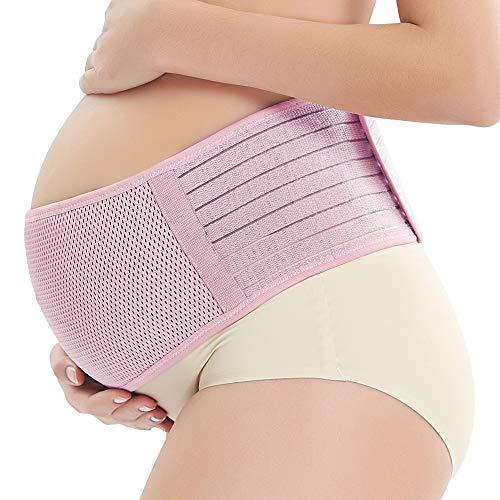 WANYIG Bauchband für Schwangere, Stützgürtel Schwangerschaft 120CM Schwangerschaftsbandage Bauchstütze Schwangerschaft Maternity Support Belt Pregnancy Support Belt Belly Band, XL, Rosa