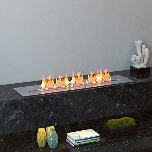 """Regal Flame Indoor Outdoor PRO 24"""" Ventless Bio Ethanol Fireplace Burner Insert - 4.8 Liter"""