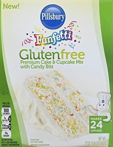 Pillsbury Funfetti Gluten Free Cake & Cupcake Mix, 17-Ounce (Pack of 12)