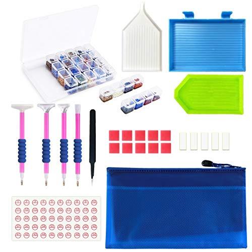 Kit de pintura de diamante JUSONEY 5D: paquete de accesorios