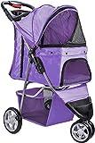 Paws & Pals 3 Wheeler Elite Jogger Pet Stroller Cat/Dog Easy to Walk Folding Travel Carrier