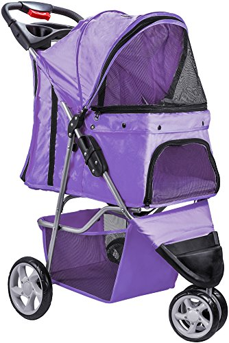 Paws & Pals Dog Stroller - Pet Strollers for Small Medium Dogs & Cats - 3 Wheeler Elite Jogger -...