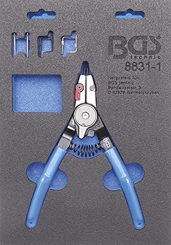 BGS 8831-1 | Sprengringzange | für Außen-/Innensprengringe | auswechselbare Spitzen | 180 mm | Seegering-Zange | rutschhemmend
