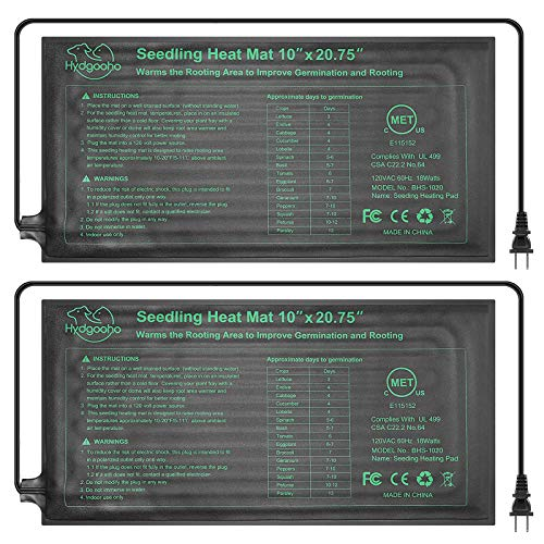 Seedling Heat Mat 2Pack Upgraded Durable Waterproof for Indoor Seed Germination Cloning and Plant Propagation10quot x 2075quot