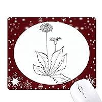 タンポポの花の植物の葉 オフィス用雪ゴムマウスパッド