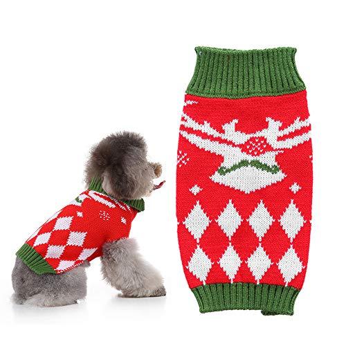 Hondentrui Coltrui Truien Brei Warm Pet voor winter Truien Kleding Puppy Soft Coat Honden Medium Pullover,Red,S