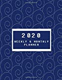 2020 Weekly & Monthly Planner: daily, weekly and monthly Planner 2020-2021 January to December, 8.5x11 size with premium glossy cover vol.3012