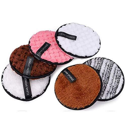 Toalla Desmaquillante Facial Microfibra Lavable/Reutilizable Maquillaje de Limpieza Facial Almohadillas de Felpa, Remover Paño Desmaquillante, Discos Desmaquillantes de Viaje