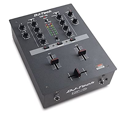 Dj Tech Dif-1s 2-channel Scratch Dj Mixer With Integraded Mini Innofader New