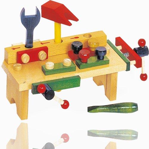 Legler Holzspielzeug Holz Werkbank mit Werkzeugen