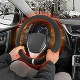Motor Trend Heated Steering Wheel Cover - Warmer/Heater for Standard Size Steering Wheels (14.5 15 15.5) in (Gray)