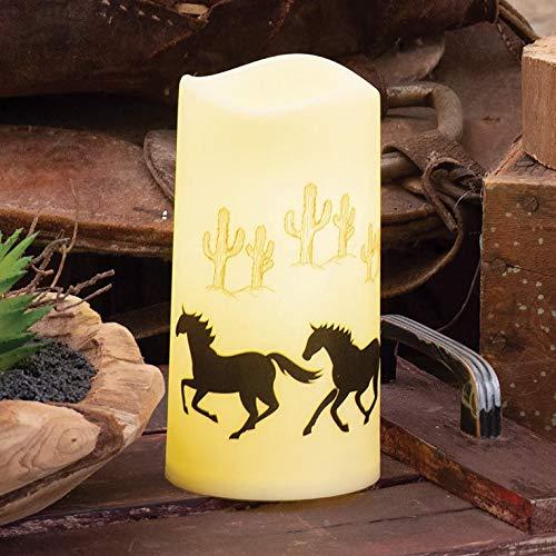 BLACK FOREST DECOR Wild Horses LED Candle