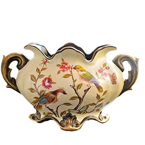 XZJJZ Vergoldete Vögel , Vintage Porzellan VaseChinesische Schmetterling Satsuma handgemalte Keramik Vase