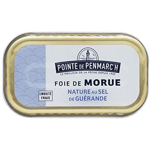 Foie de morue au sel de guérande Pointe de Penmarc'h le lot de 6 boîtes de 121 g - Livraison en 2 à 3 jours ouvrés depuis la Bretagne