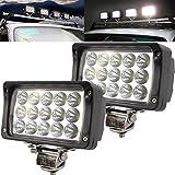 Led Fog Lights,JASLITE 4X6inch LED Light Bar 45W 4500LM Super Bright Led Flood Offroad Driving Work Lights Waterproof for Trucks, ATV, SUV, UTV,Trailers,2PACKS
