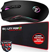 Save on RGB Mouse with X-Large Gaming Mouse Pad