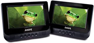 Laser 7 Portable DVD Player Dual Screen with USB SD 12v 240v Region Free SD