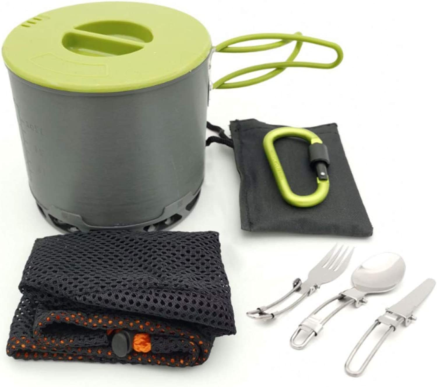 MTK Camping Pot, Portable Outdoor Set Hot Ring Pot, 1-2 People Camping Cooker, Suitable for Camping Hiking Barbecue Picnic