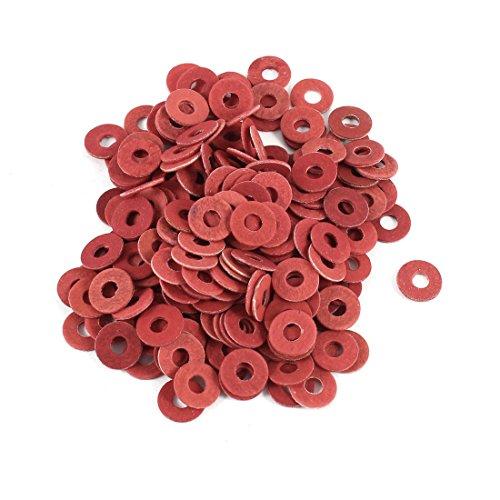 sourcingmap® 3mmx8mmx0.7mm isoliert Faser Blende Isolierscheiben Unterlegscheibe rot 200 pcs de
