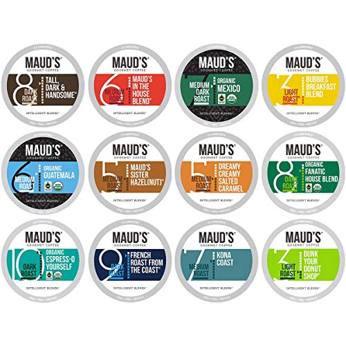 Maud's 12 Flavor Bulk Coffee Variety Pack (Variety Family Pack), 136ct. Solar Energy Produced Recyclable Single Serve Bulk Variety Coffee Pods – 100% Arabica Coffee California Roasted, KCup Compatible