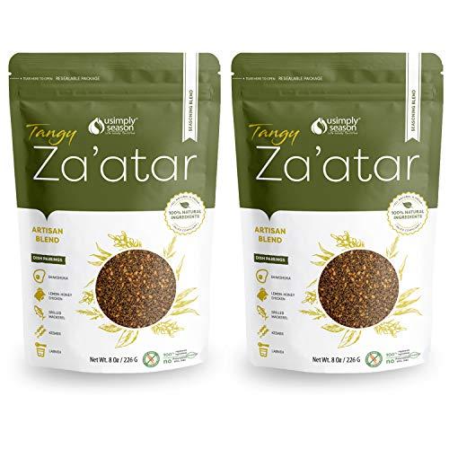 USimplySeason Zaatar Spice (Tangy Seasoning, 8 Ounce) | Pack of 2