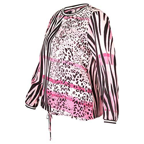 Barbara Lebek - roze blouse met dierenprint