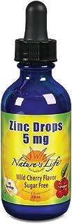 Nature's Life Liquid Zinc Drops 5mg | Cherry | 60 Servings, 2 fl oz