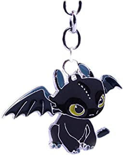 Toothless Desdentao Toothless Light Fury MINGZE Dragons como Entrenar a tu Drag/ón Llavero Desdentado