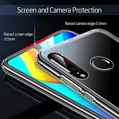 ESR Glashülle kompatibel mit Huawei P30 Lite - 9H Hartglas Handyhülle mit dualer Rückseite - Kratzfeste Schutzhülle mit weichem TPU Bumper für Huawei P30 Lite - Klar - 6