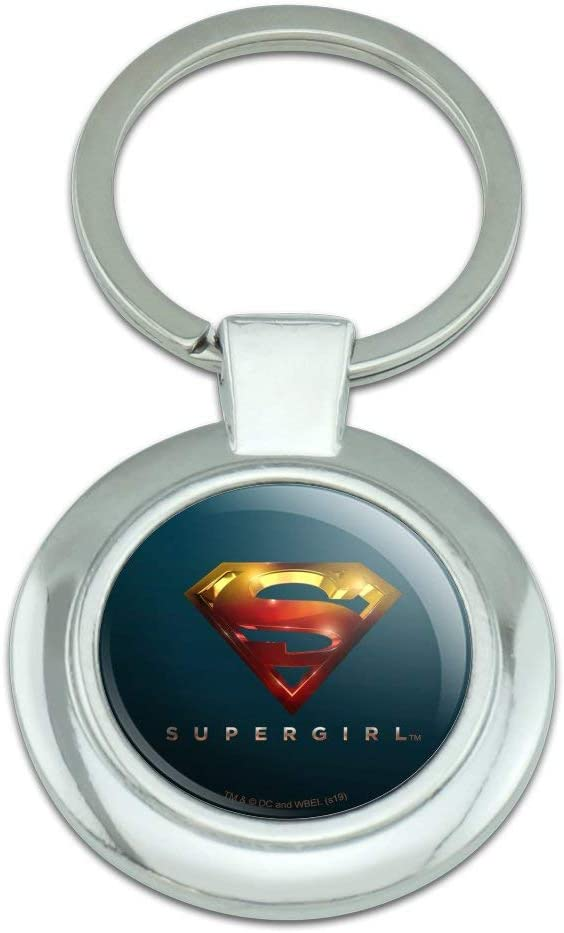 Supergirl TV trend rank Selling Series Logo Keychain Met Classy Chrome Plated Round