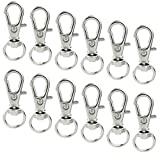 50 pcs Swivel Clasps Lanyard Snap Hook,cnomg Metal Swivel Lanyard Snap Hook Lobster Claw C...