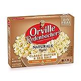 Orville Redenbacher's Naturals Light Classic Butter & Sea Salt Popcorn, Gluten Free, 2.69 Ounce Classic Bag, 6-Count, Pack of 6