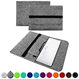 UC-Express Sleeve Hülle kompatibel für Trekstor Primebook P13 P14 P14B Tasche Filz Notebook Cover 14,1 Laptop Hülle, Farbe:Grau