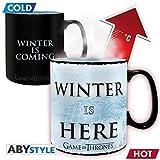 Game of Thrones Thermoeffekt Tasse XL Winter Is Here - schwarz/weiß, aus Keramik, in...